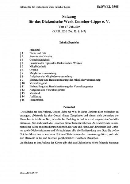 3505 Satzung für das Diakonische Werk Emscher-Lippe