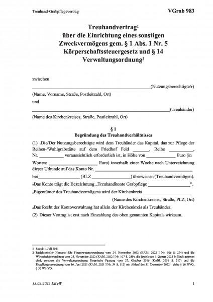 983 Treuhand-Grabpflegevertrag