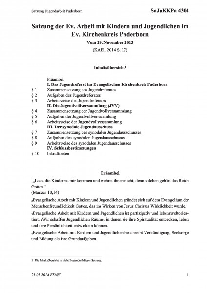 4304 Satzung Jugendarbeit Paderborn