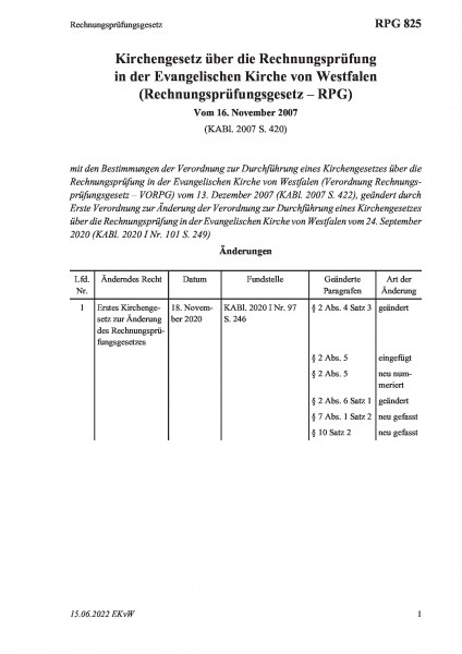 825 Rechnungsprüfungsgesetz