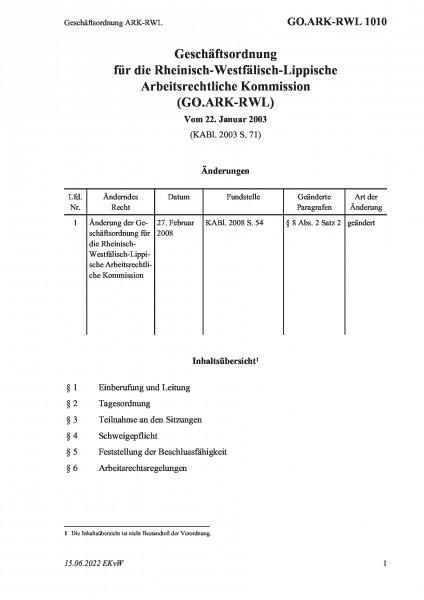 1010 Geschäftsordnung ARK-RWL