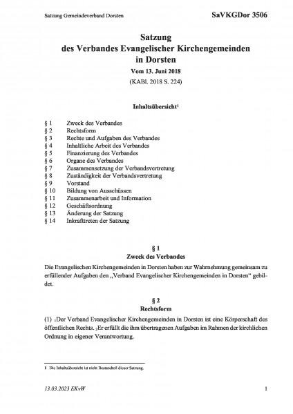 3506 Satzung Gemeindeverband Dorsten