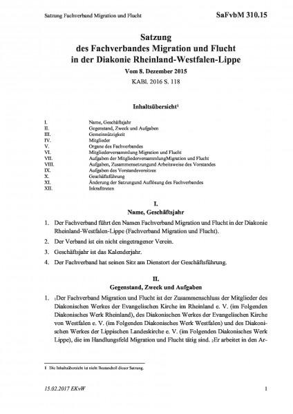 310.15 Satzung Fachverband Migration und Flucht