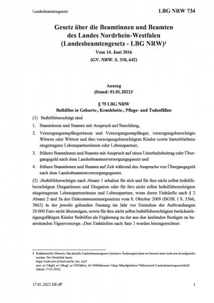 734 Landesbeamtengesetz