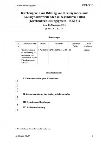 10 Kirchenkreisleitungsgesetz