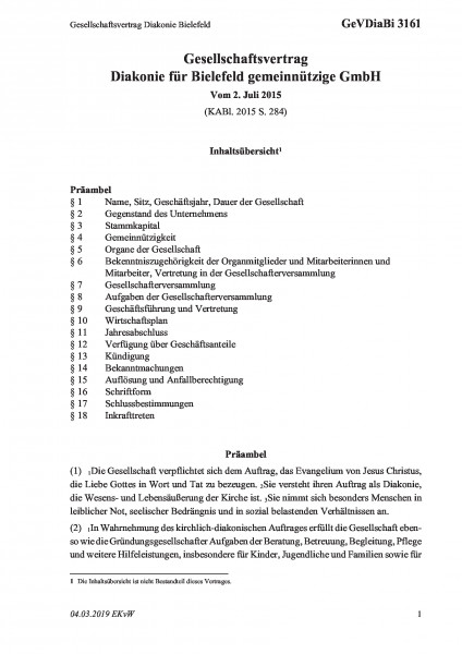 3161 Gesellschaftsvertrag Diakonie Bielefeld