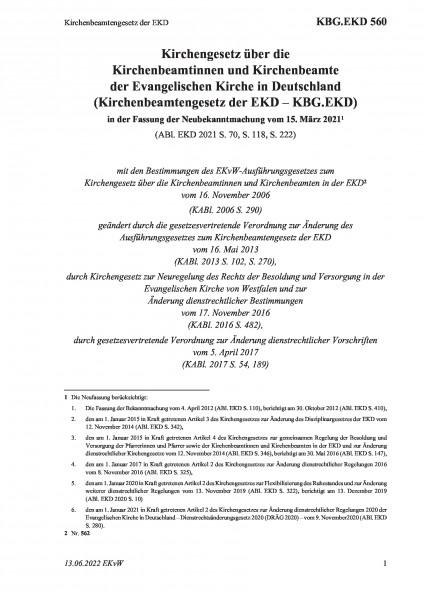 560 Kirchenbeamtengesetz der EKD