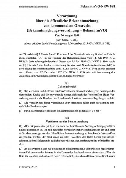 988 Bekanntmachungsverordnung