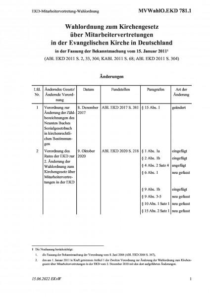 781.1 EKD-Mitarbeitervertretung-Wahlordnung