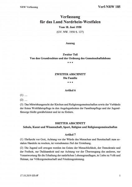 185 NRW Verfassung
