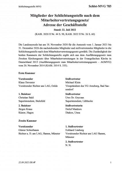 783 Schlichtungsstelle MVG