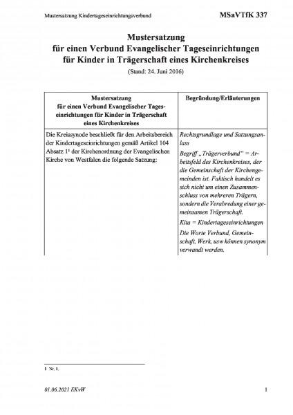 337 Mustersatzung Kindertageseinrichtungsverbund