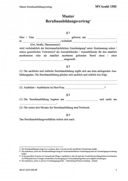 1501 Muster Berufsausbildungsvertrag