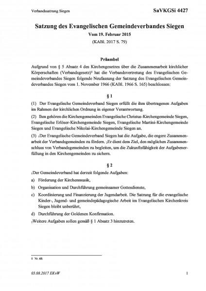 4427 Verbandssatzung Siegen