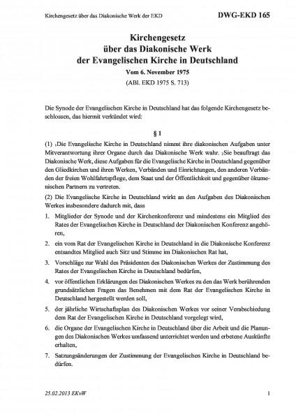 165 Kirchengesetz über das Diakonische Werk der EKD