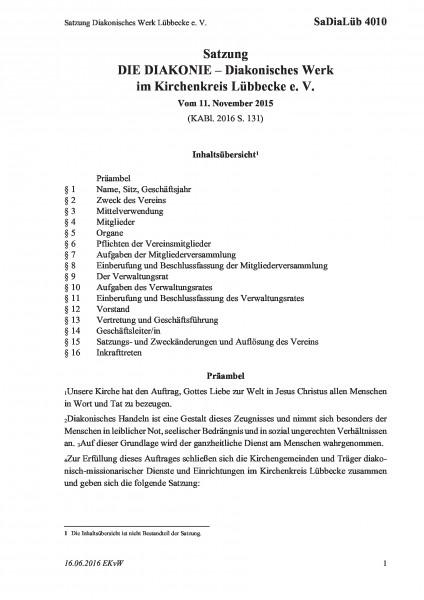 4010 Satzung Diakonisches Werk Lübbecke e. V.
