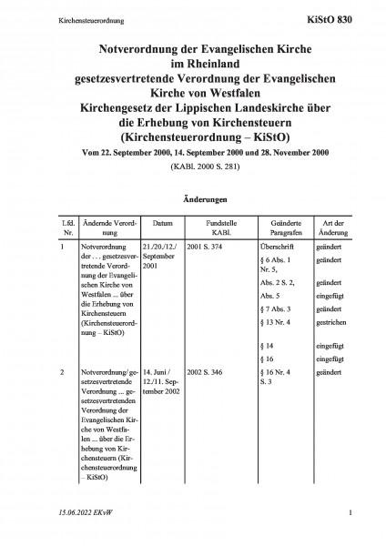 830 Kirchensteuerordnung