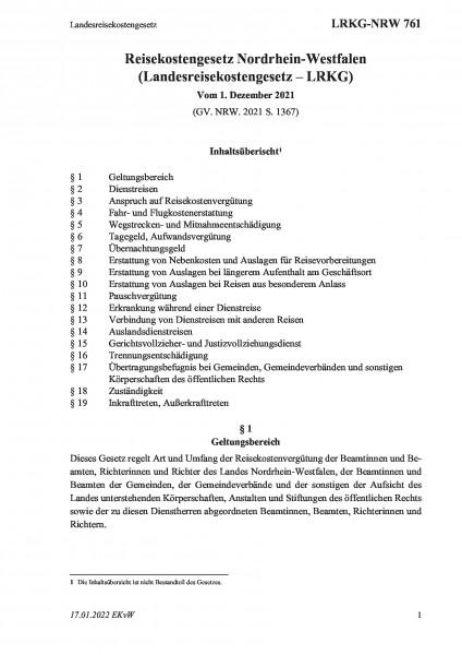 761 Landesreisekostengesetz