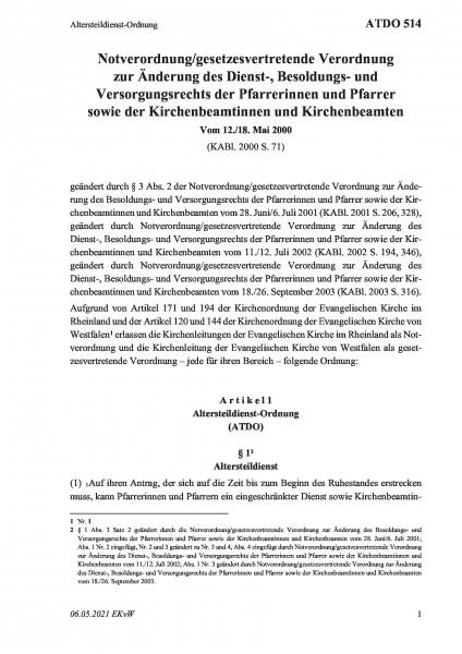 514 Altersteildienst-Ordnung