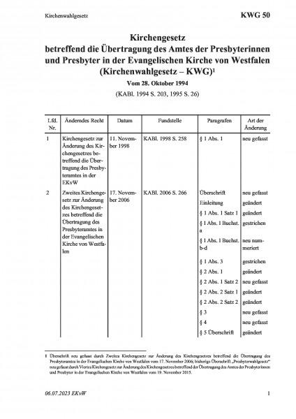 50 Kirchenwahlgesetz
