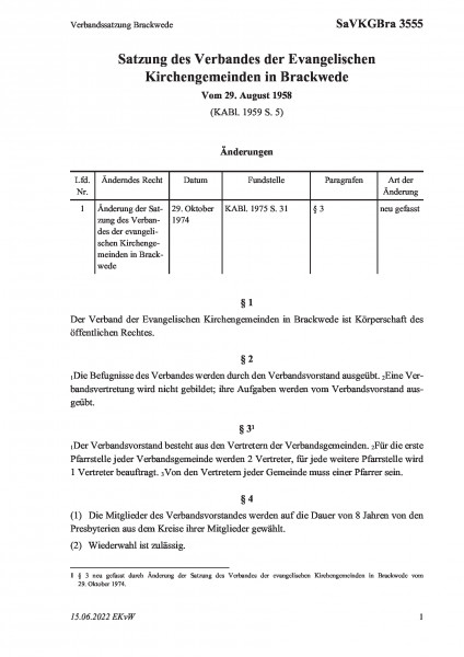 3555 Verbandssatzung Brackwede
