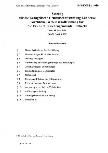 4030 Gemeinschaftsstiftung Kirchengemeinde Lübbecke