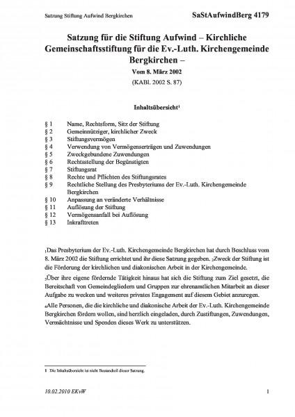4179 Satzung Stiftung Aufwind Bergkirchen