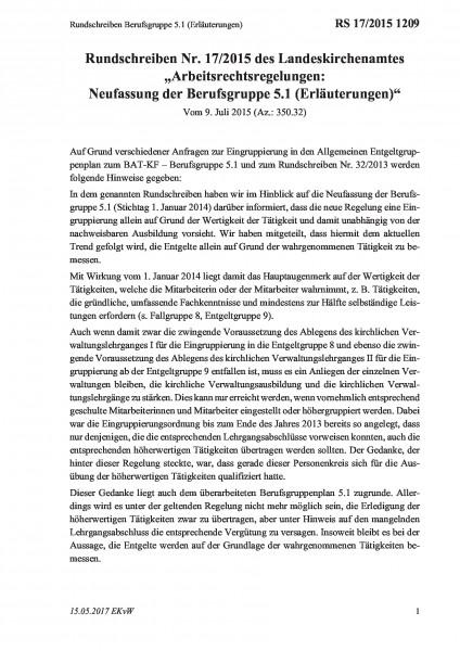 1209 Rundschreiben Berufsgruppe 5.1 (Erläuterungen)