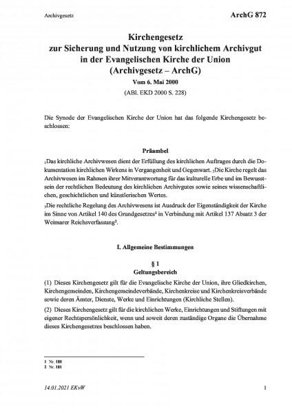 872 Archivgesetz