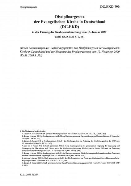 790 Disziplinargesetz