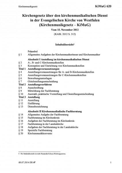 620 Kirchenmusikgesetz