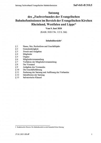 310.5 Satzung Fachverband Evangelischer Bahnhofsmission