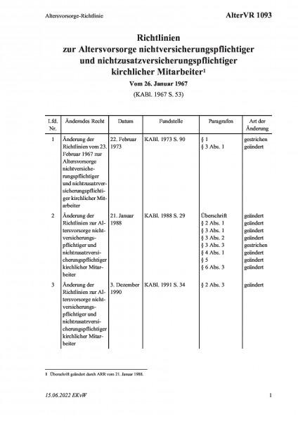 1093 Altersvorsorge-Richtlinie