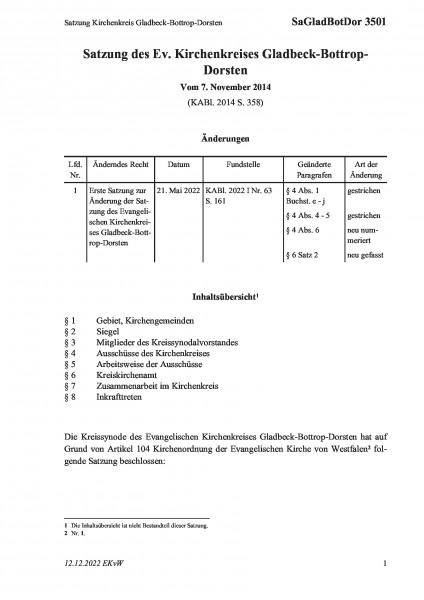 3501 Satzung Kirchenkreis Gladbeck-Bottrop-Dorsten