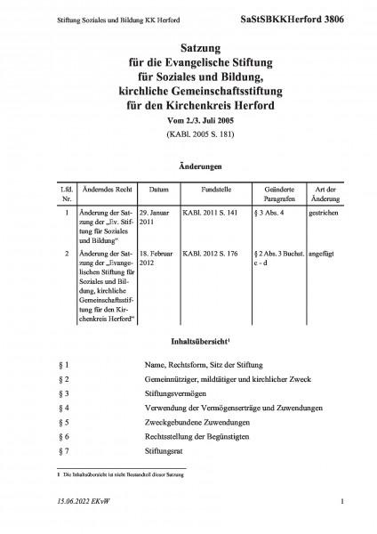 3806 Stiftung Soziales und Bildung KK Herford