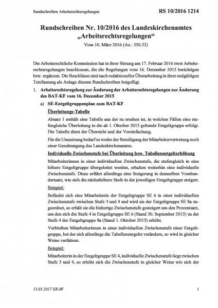 1214 Rundschreiben Arbeitsrechtsregelungen