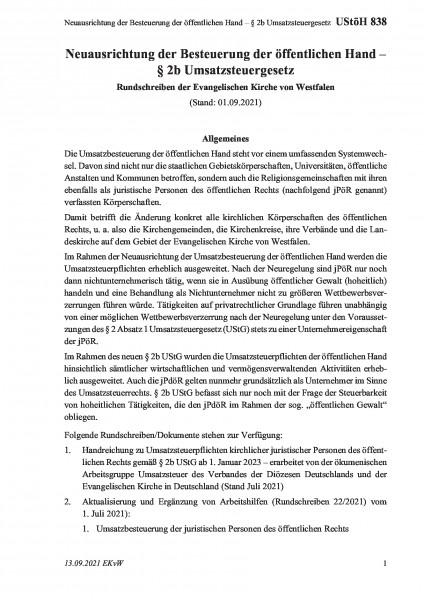 838 Neuausrichtung der Besteuerung der öffentlichen Hand – § 2b Umsatzsteuergesetz