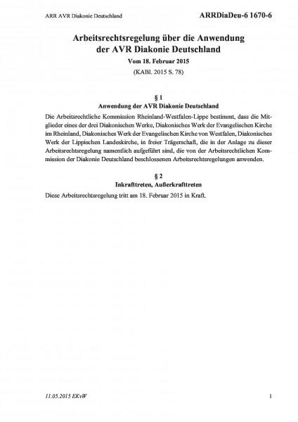 1670-6 ARR AVR Diakonie Deutschland