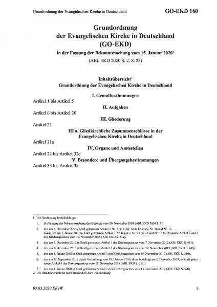 160 Grundordnung der Evangelischen Kirche in Deutschland