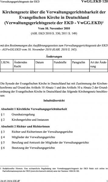 120 Verwaltungsgerichtsgesetz der EKD