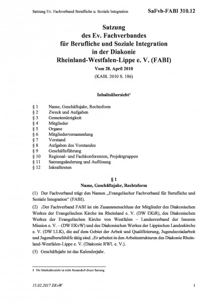 310.12 Satzung Ev. Fachverband Berufliche u. Soziale Integration