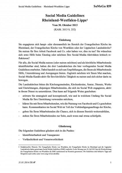859 Social Media Guidelines – Rheinland-Westfalen-Lippe