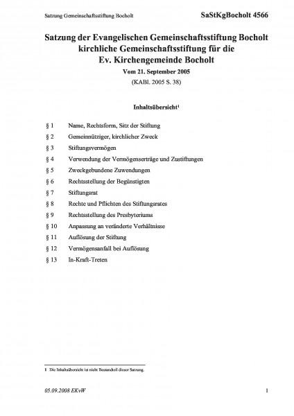 4566 Satzung Gemeinschaftsstiftung Bocholt