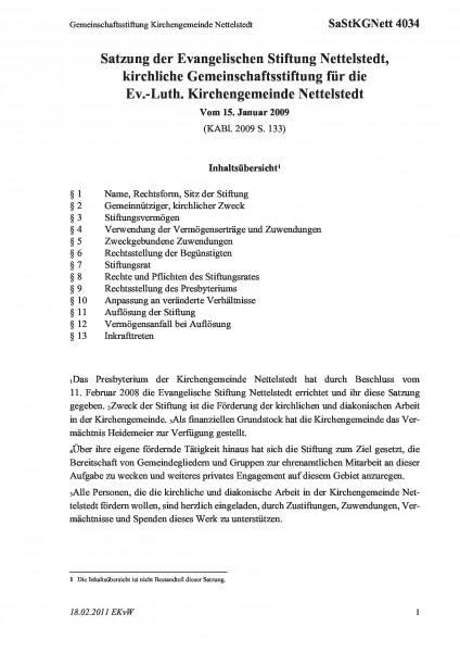 4034 Gemeinschaftsstiftung Kirchengemeinde Nettelstedt