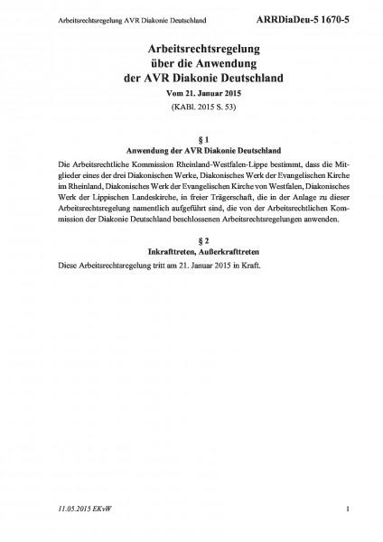 1670-5 Arbeitsrechtsregelung AVR Diakonie Deutschland