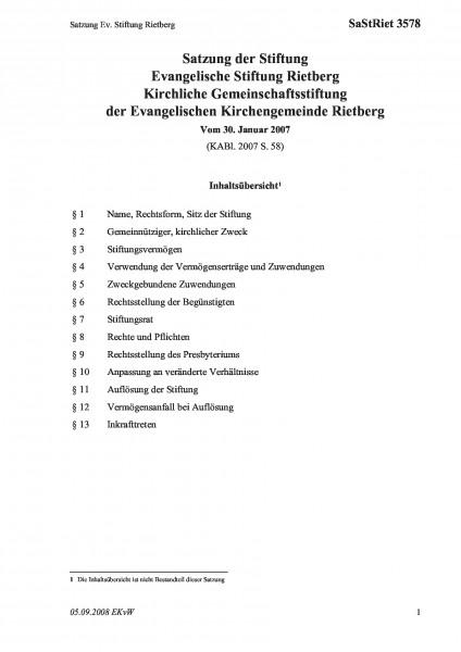 3578 Satzung Ev. Stiftung Rietberg