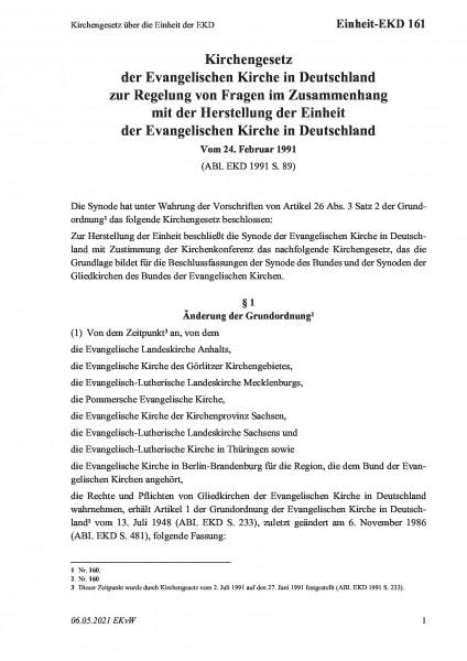 161 Kirchengesetz über die Einheit der EKD