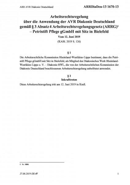 1670-13 ARR AVR Diakonie Deutschland