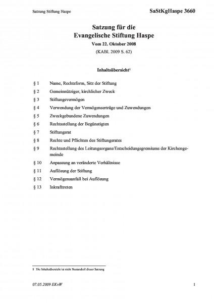 3660 Satzung Stiftung Haspe