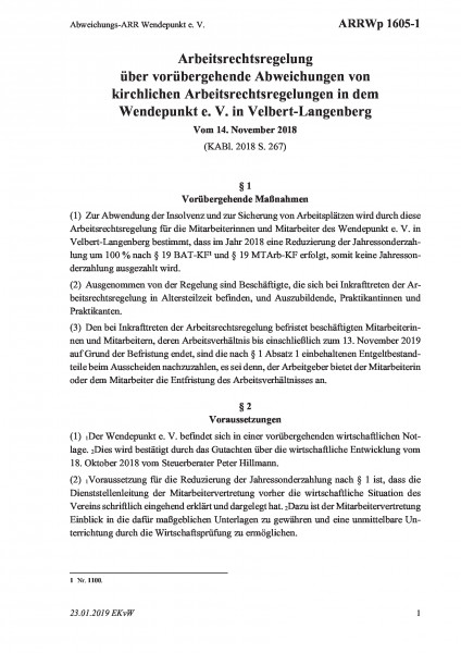 1605-1 Abweichungs-ARR Wendepunkt e. V.
